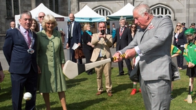 Prince Charles gave a sliotar a bash following a demonstration by former Kilkenny All-Star Henry Shefflin