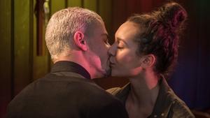 Joel kisses Cleo this week on Hollyoaks