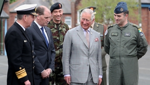 Prince Charles then travelled to Kildare to visit the Curragh Camp...