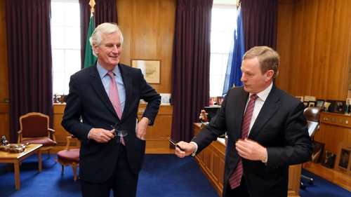 Michel Barnier held talks with Taoiseach Enda Kenny this afternoon