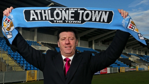 Roddy Colins at his first Athlone Town unveiling back in 2012