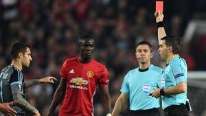 Eric Bailly sees red against Celta Vigo