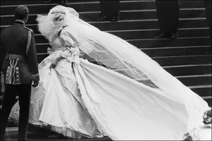 Diana's wedding dress on July 29th, 1981, was designed and created by Elizabeth Emanuel and her husband David.