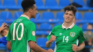 Adam Idah (L) will look to fire Ireland into the last four