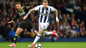James McClean has scored 5 goals in 112 appearances for West Brom