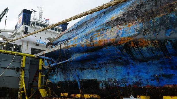 More human bones recovered from sunken S. Korean ferry