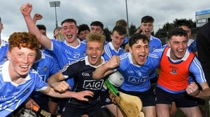 Dublin players celebrate their semi-final victory against Wexford