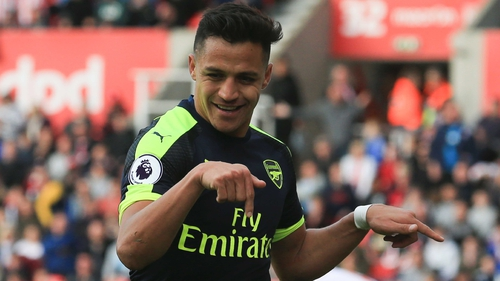Alexis Sanchez was superb for the Gunners against Stoke
