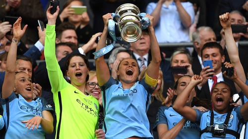 Manchester City lift the Women's FA Cup