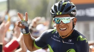 Nairo Quintana leads the race after 19 Stages