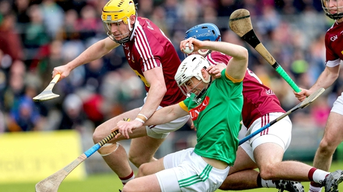 Westmeath's Aaron Craig and Tommy Gallagher tangles with Gavin McGowan