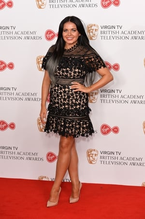 Gogglebox star Scarlett Moffatt chose a little black dress from Self Portrait paired with simple nude shoes.
