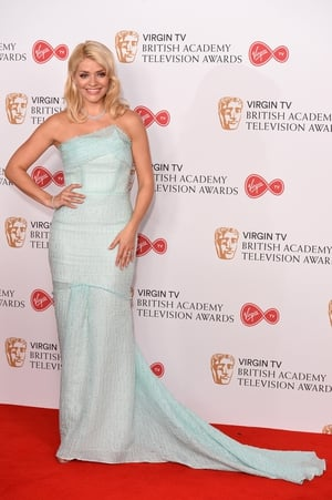 Holly Willoughby wore a beautiful, icy blue, Roland Mouret gown. She looked like a Disney princess!