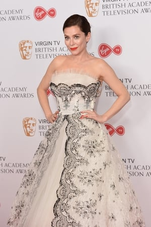 Anna Friel looked like an old school Hollywood beauty in this black and white gown.