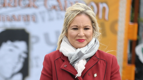 Michelle O'Neill said political leaders 'have a duty and a responsibility to lead by example'