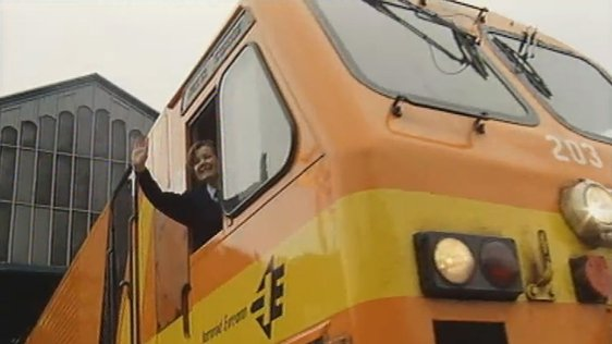 Teresa Carey is Ireland's first female train driver (2002)