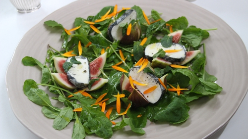 Rory O'Connell's Fresh Fig & Goat's Cheese Salad