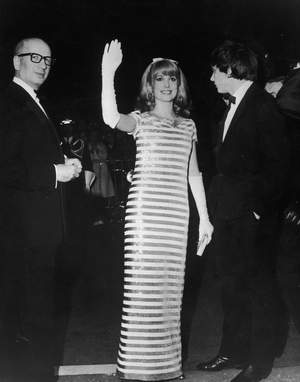 Oohlala! French stripes for French icon Catherine Deneuve in 1966.