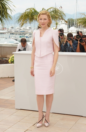 Cate Blanchett looks like a vision at the festival in 2010 in this delicate Armani Prive ensemble.