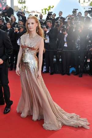 Jessica Chastain shines in this Gucci gown at the festival in 2012. Gorgeous.
