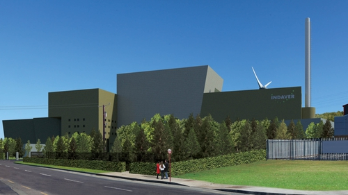 An artist's impression of the planned incinerator