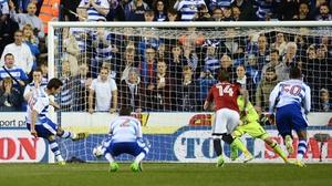 Yann Kermorgant scores from the penalty spot