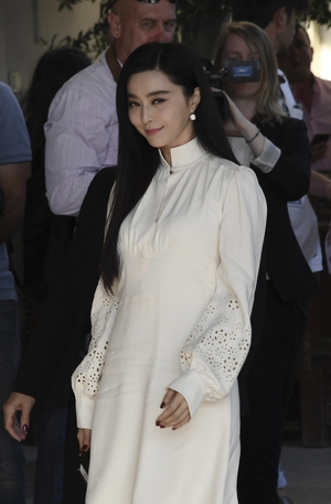 Day One - Wednesday May 17: Chinese actress, and member of the Cannes jury, Fan Bingbing is already slaying in this white number.