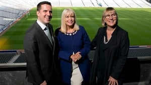 IDA's Martin Shanahan, Minister Mary Mitchell O'Connor and Enterprise Ireland's Julie Sinnamon at the Global Sourcing initiative