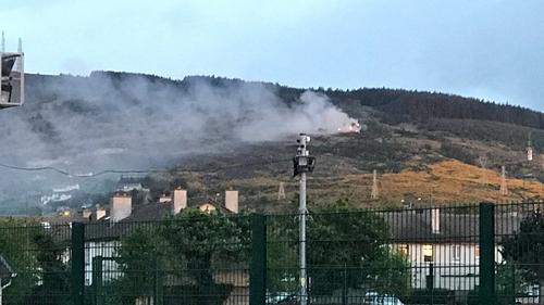 Three units of Dublin Fire Brigade are at the scene