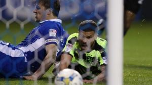 Nahki Wells scored the equaliser for Huddersfield Town