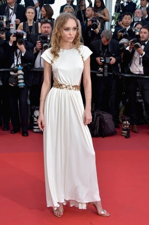 Day One - Wednesday May 17: Lily-Rose Depp is a Geek goddess embodied in this Chanel gown and lovely curls!