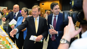 Enda Kenny attending an event in Dublin this morning
