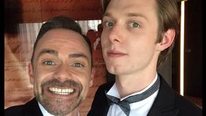 Coronation Street stars Daniel Brocklebank and Rob Mallard, image via Daniel Brocklebank/Twitter