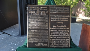 The offer of a plaque from Ireland was accepted after ensuring it met proper criteria