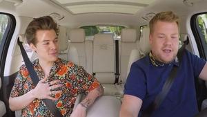 Harry Styles has shotgun this time around on James Corden's Carpool Karaoke