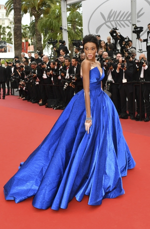 Day Two - Thursday May 18: Model Winnie Harlow was stunning in this blue Zuhair Murad princess gown.