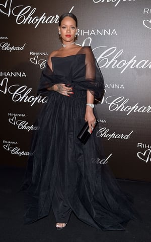 Day Two - Thursday May 18: Rihanna was the queen of the night at the Chopard dinner in her and her Rihanna X Chopard Collection. She was beautiful and chic in a Ralph and Russo gown.