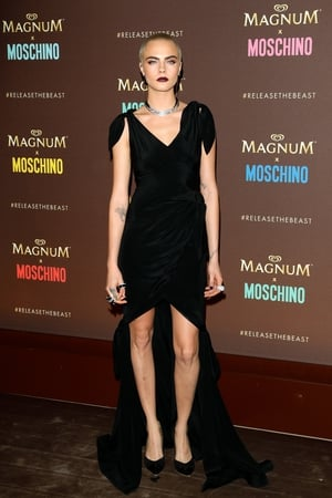 Day Two - Thursday May 18: Cara Delevingne knows how to style her cropped hair at the Magnum Party with a black dress and burgundy lips. Wow.