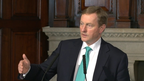 Enda Kenny was speaking at a lunch in London hosted by The Ireland Funds of Great Britain