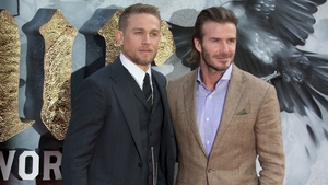 "Charlie Hunnam says David Beckham's acting was ""very good for a guy who had never done it before"""