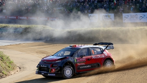 Craig Breen in action in Portugal