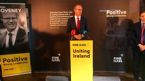 Simon Coveney launched his policy priorities in Dublin this morning