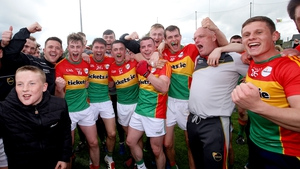 Carlow players and supporters were in jubilant form after the final whistle