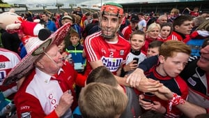 Cork's Stephen McDonnell is swamped by elated fans