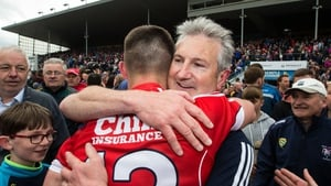 Kieran Kingston celebrates with his son Shane