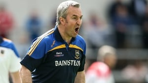 Tipperary manager Michael Ryan urges on his team