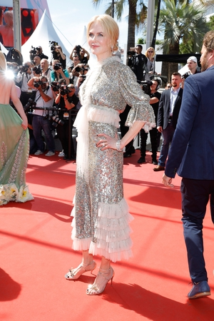 Day Five - Sunday May 21: Nicole Kidman rocking the red carpet once again! This sequined frill dress suits her perfectly.