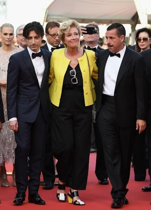 Day Five - Sunday May 21: The classy Emma Thompson, accompanied by Adam Sandler and director Noah Baumbach. She's really funky in this black and yellow combo and matching shoes!