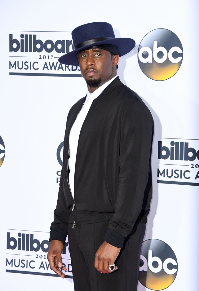 Sean 'Diddy' Combs wore a show stopping over sized hat on the red carpet. The producer paid tribute to the late Notorious B.I.G. during the Awards alongside Biggie's son, Christopher Jordan Wallace.