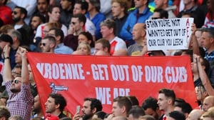 Arsenal fans voiced their anger during the win over Everton